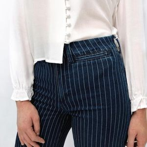 Joe's Jeans Striped Cropped Flare Pants